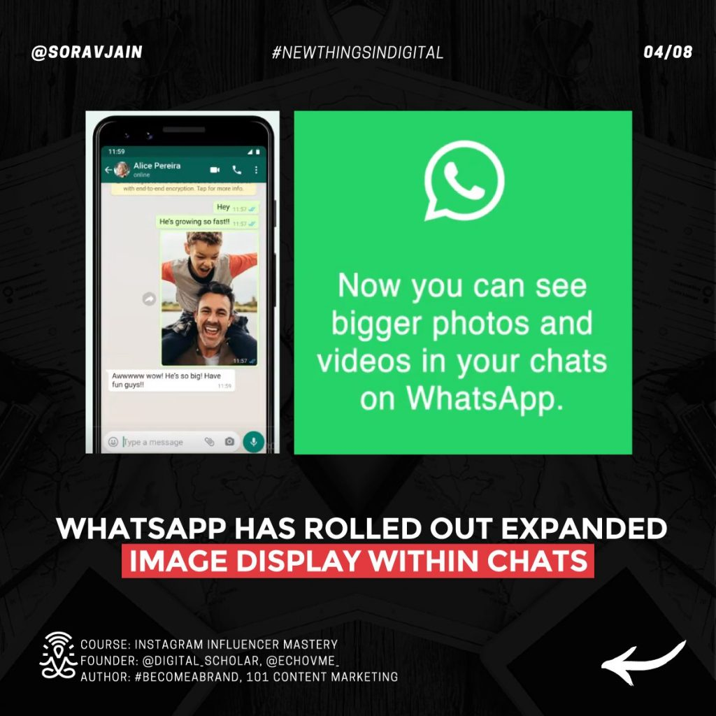 WhatsApp has rolled out expanded image display within chats