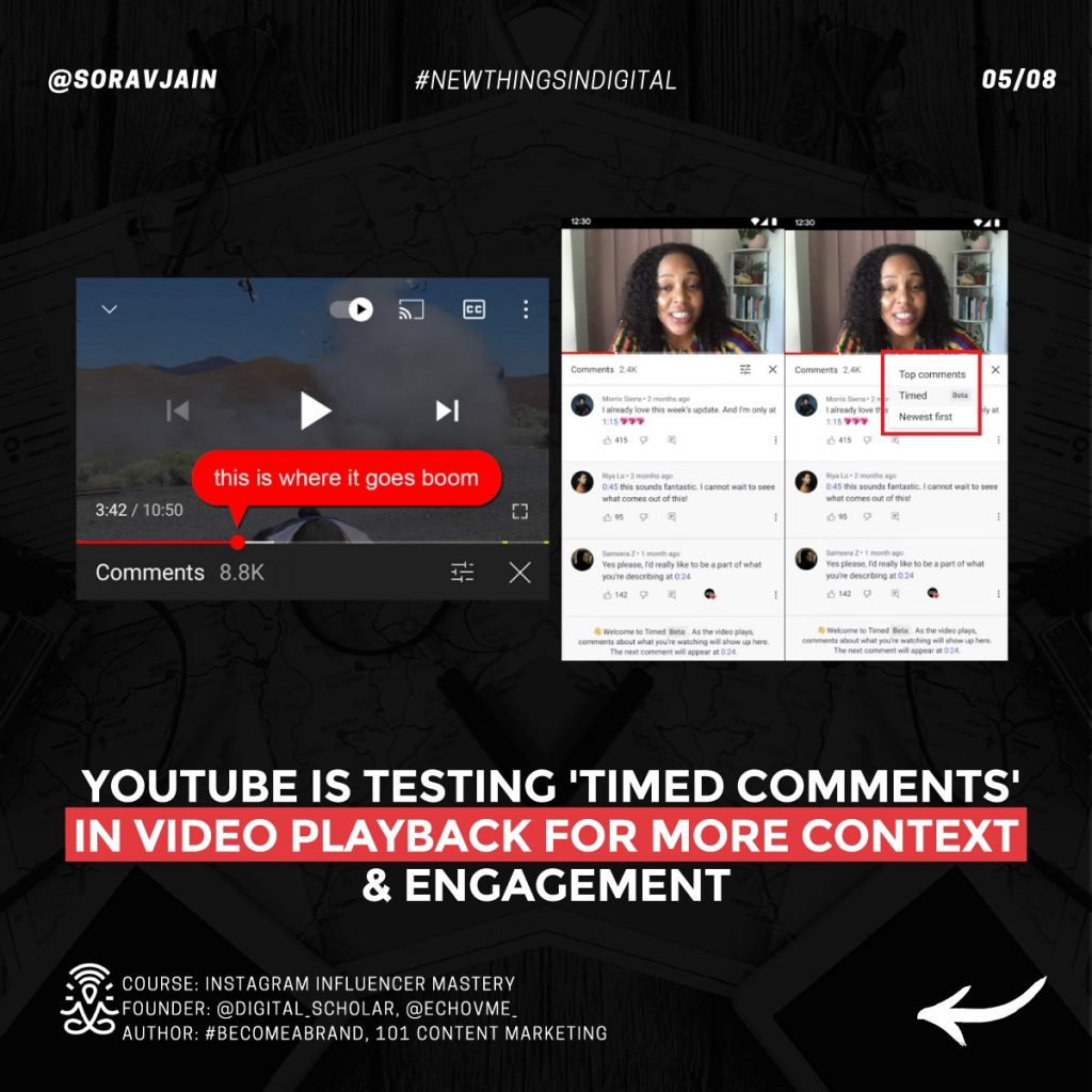 YouTube is testing 'Timed Comments' in video playback for more context and engagement
