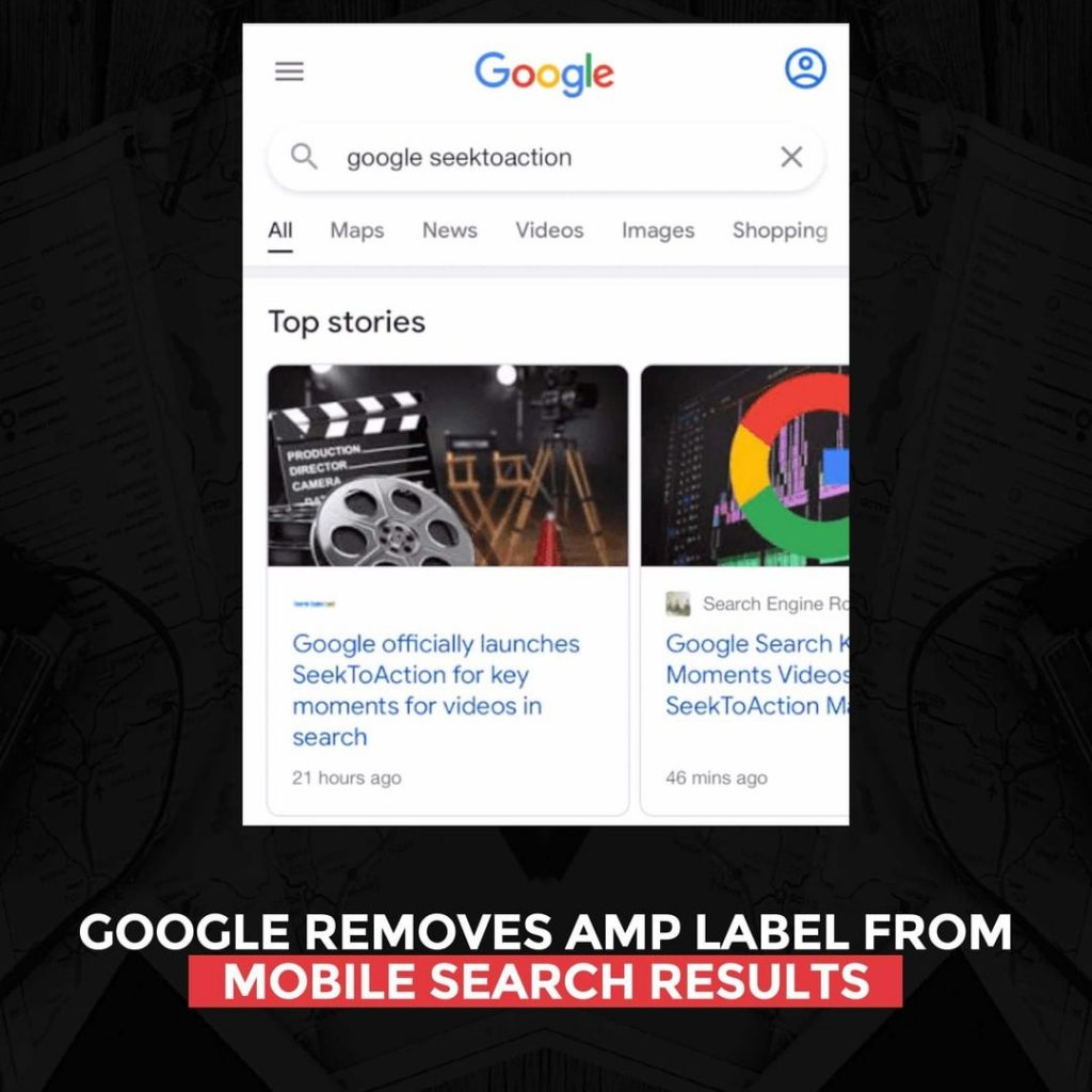 Google removes AMP label from mobile Search results
