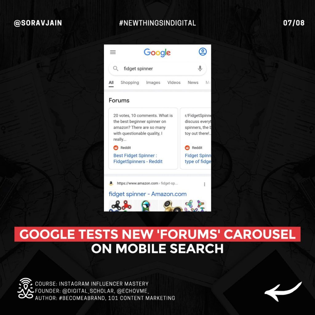 Google tests new 'Forums' Carousel on Mobile Search