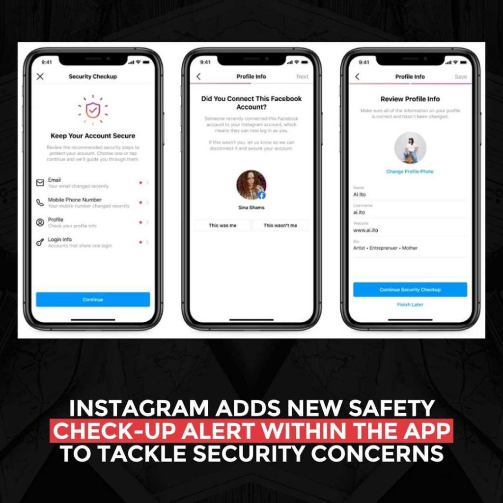 Instagram adds new Safety check-up alert within the app to tackle security concerns