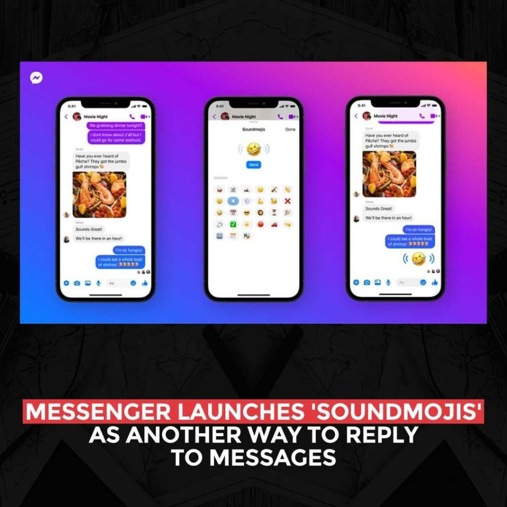 Messenger launches 'Soundmojis' as another way to reply to messages