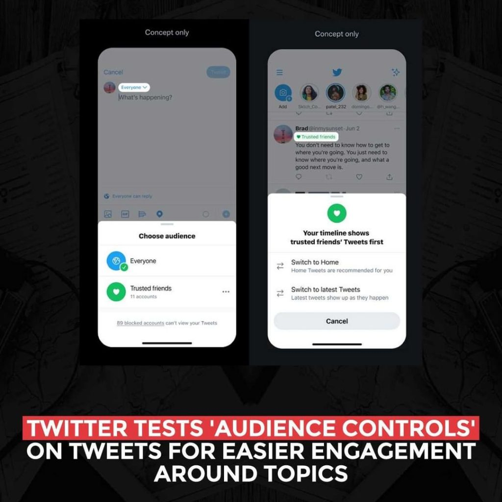 Twitter tests 'Audience Controls' on Tweets for easier engagement around topics