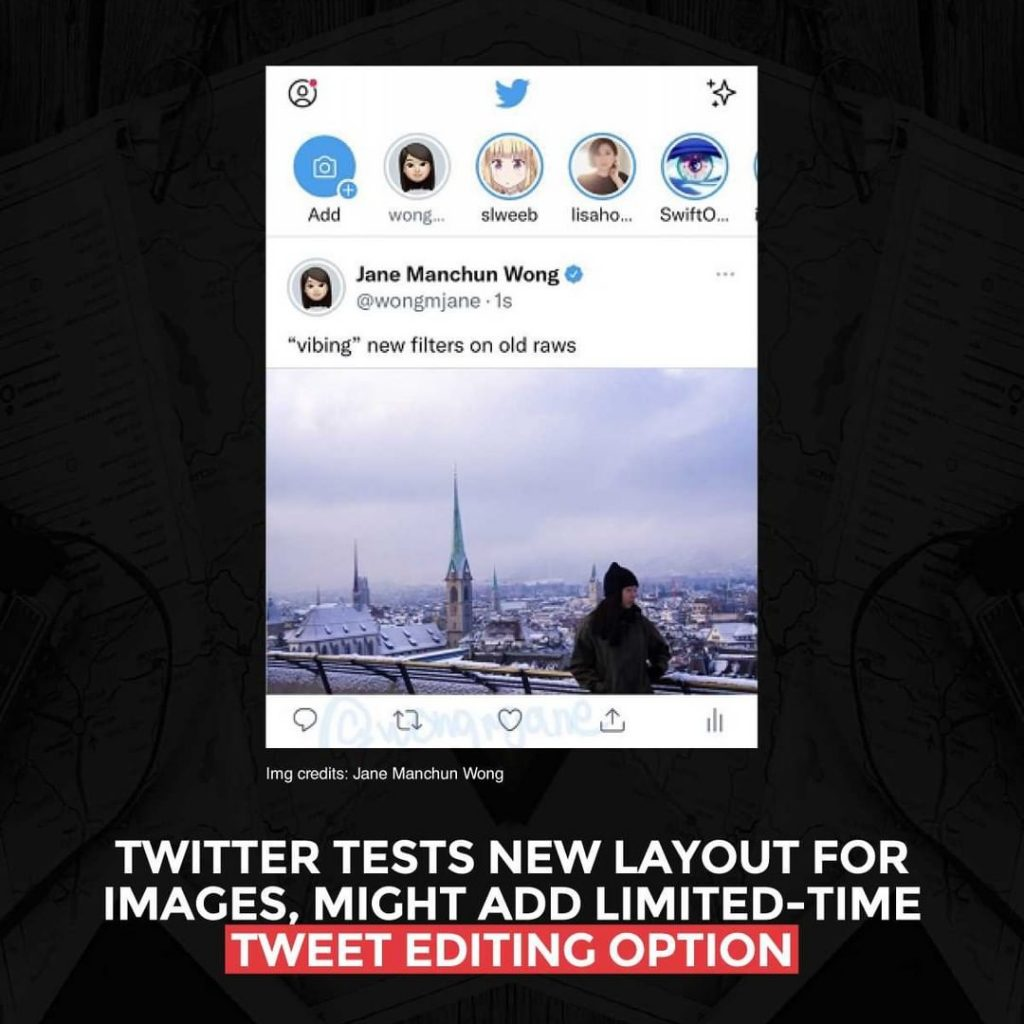 Twitter tests new layout for images and might add limited-time Tweet editing option