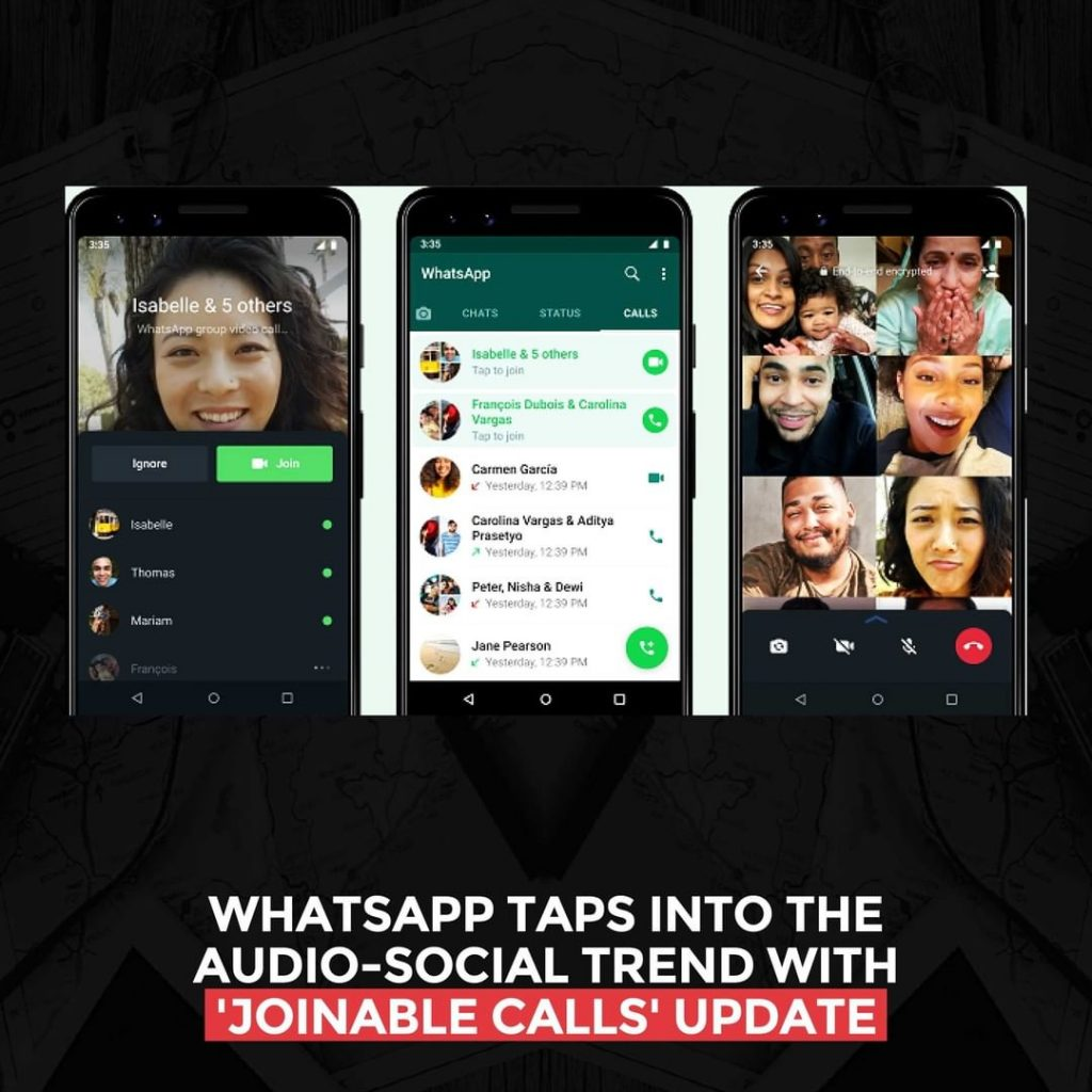 WhatsApp taps into the audio-social trends with 'joinable calls' update