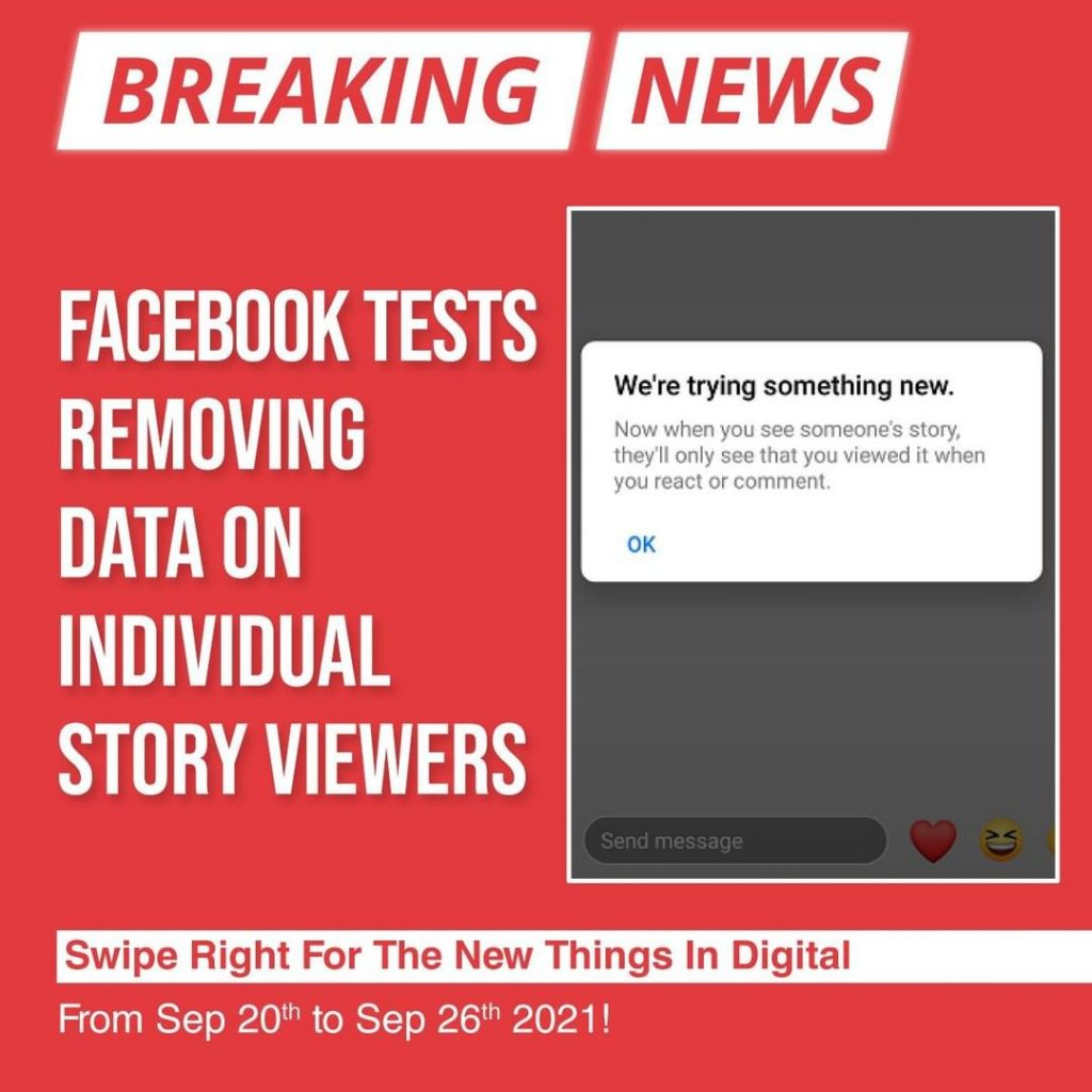 Facebook tests removing data on individual Story viewers