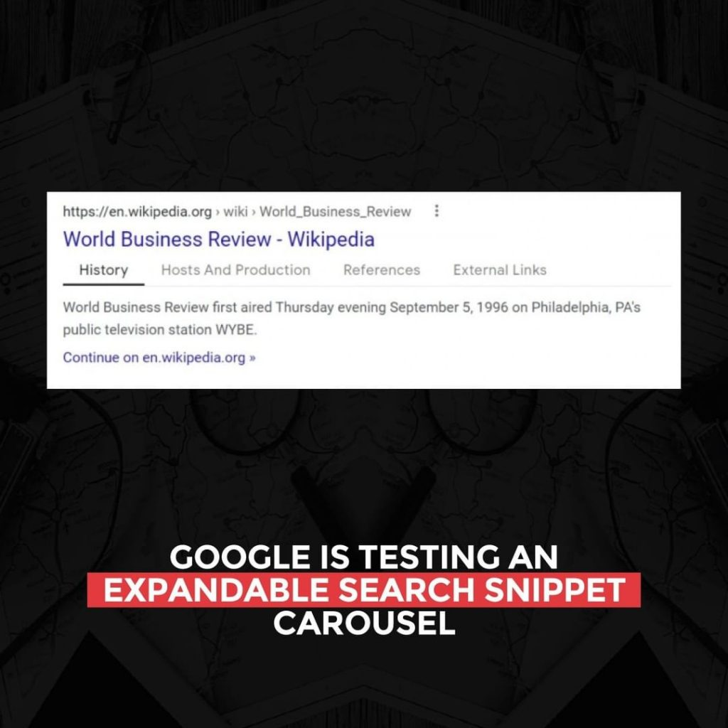 Google is testing an expandable Search Snippet Carousel
