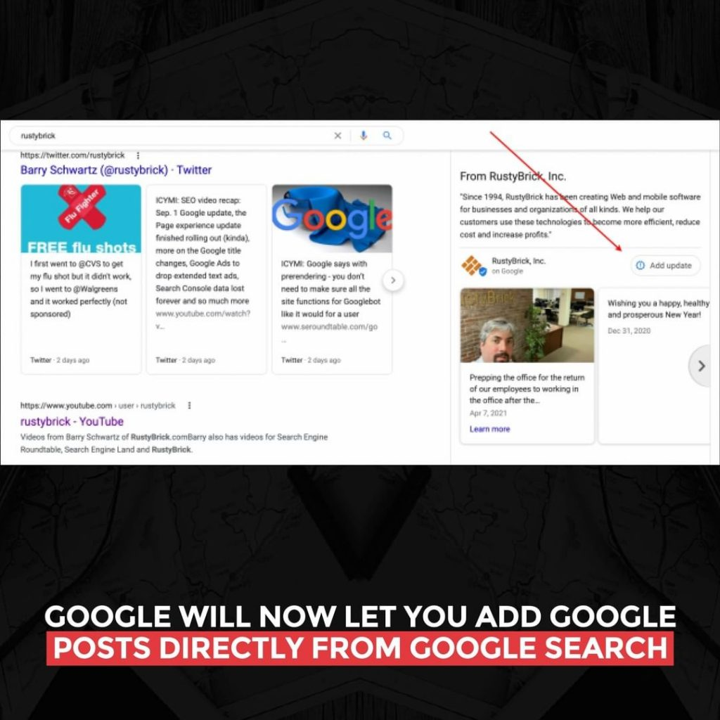 Google will now let you add Google posts directly from Google Search