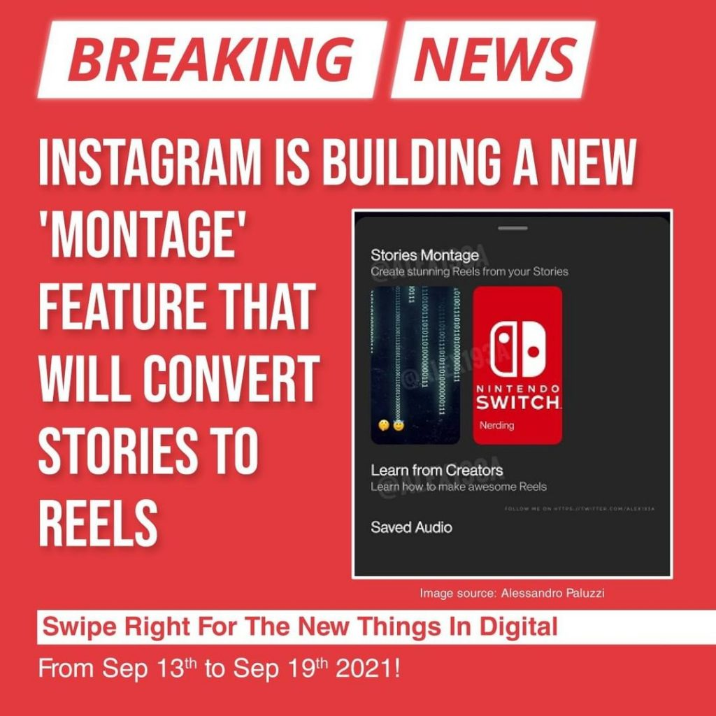 Instagram is building a new 'Montage' feature that will convert Stories to Reels