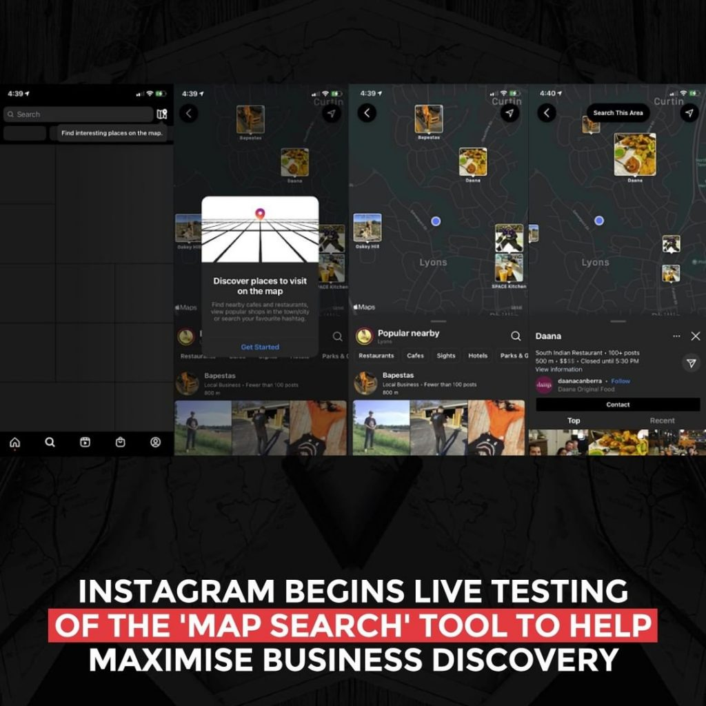 Instagram's begins live testing of the 'Map Search' tool to help maximize business discovery