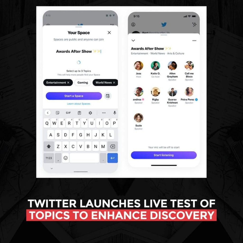 Twitter launches live test of Topics to enhance discovery