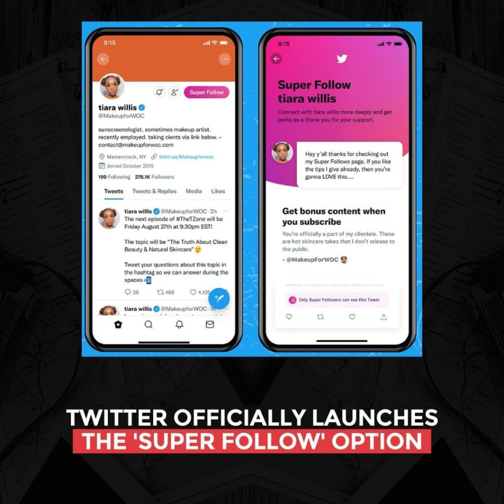 Twitter officially launches the 'Super Follow' option