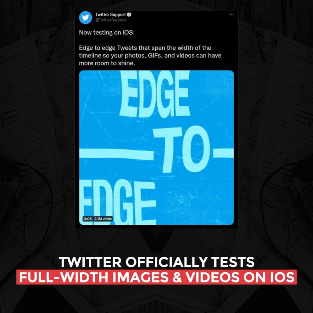 Twitter officially tests full-width images and videos on iOS