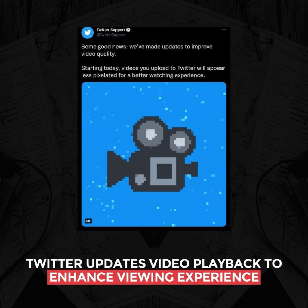 Twitter updates video playback to enhance the viewing experience
