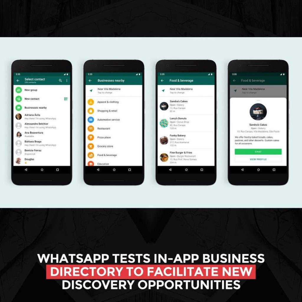 WhatsApp tests in-app business directory to facilitate new discovery opportunities