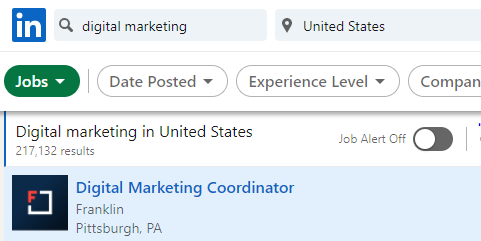 digital marketing job demand in usa